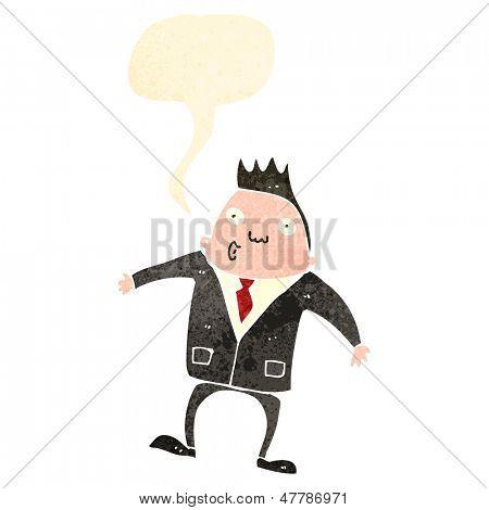retro cartoon impressed businessman