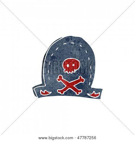 retro cartoon pirate hat