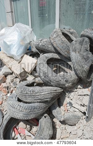 Rubble And Old Tires