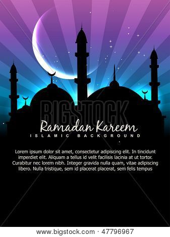 vector ramadan kareem background with space for your text