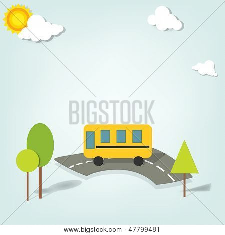 vector school bus