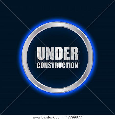 Vetor sob signo de construção com Plasma Design