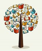 picture of grammar  - Global education concept tree made books - JPG