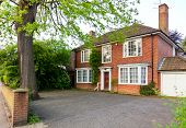 foto of suburban city  - Traditional brick house in England - JPG