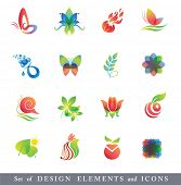 Set of Design Elements. Collection with icons for abstract logo.