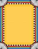 picture of native american ethnicity  - A border or frame with a Native American motif - JPG