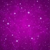picture of petunia  - Cosmic atmosphere illustration with stars - JPG