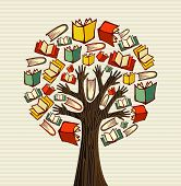 picture of palm-reading  - Global education concept tree hand books - JPG