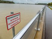 stock photo of damme  - flood of 2013 - JPG