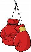 foto of knockout  - Boxing gloves on a nail vector illustration - JPG