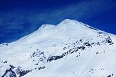 stock photo of toboggan  - Beautiful view of mountains in the Elbrus area - JPG