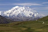 stock photo of denali national park  - road to mount McKinley in Denali National Park - JPG