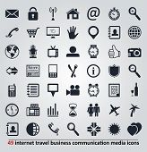 image of gps  - vector set of icons for internet travel business communication and media - JPG