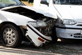 stock photo of car ride  - Two cars involved in a collision or crash - JPG