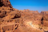 picture of rock carving  - Morning in Petra - JPG