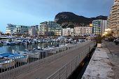 stock photo of gibraltar  - Promenade in the Ocean Village marina in Gibraltar - JPG
