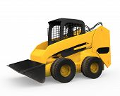 picture of skid-steer  - Skid Steer Loader isolated on white background - JPG