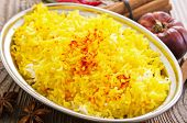 stock photo of saffron  - saffron rice - JPG