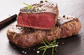 stock photo of ribeye steak  - beef steak - JPG