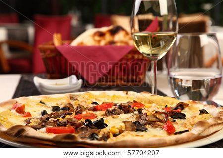 Pizza In A Luxury Restaurant