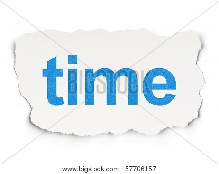 Time concept: Time on Paper background