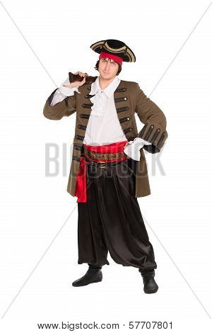 Man Posing In Pirate Costume