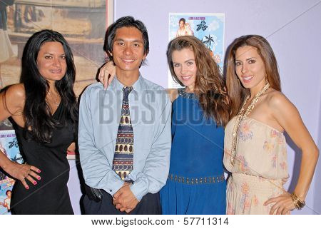 Lisa Solomon, Tony Young, Alicia Arden and Kerri Kasem at the dual screenings of