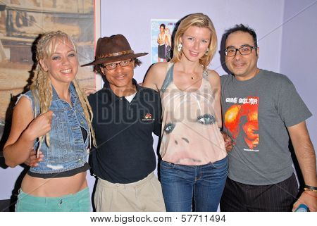 Tonya Kaye, Clinton H. Wallace, Andrea Harrison and Ramzi Abed at the dual screenings of