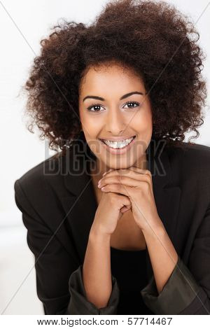 Beautiful Friendly African American Businesswoman