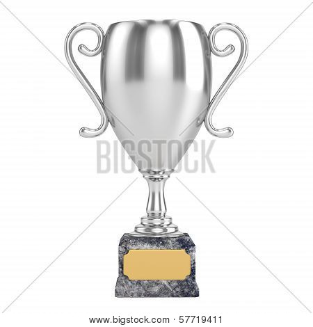 Silver Cup Isolated