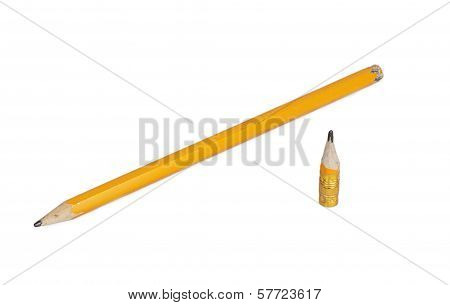 Orange Long And Short Pencils