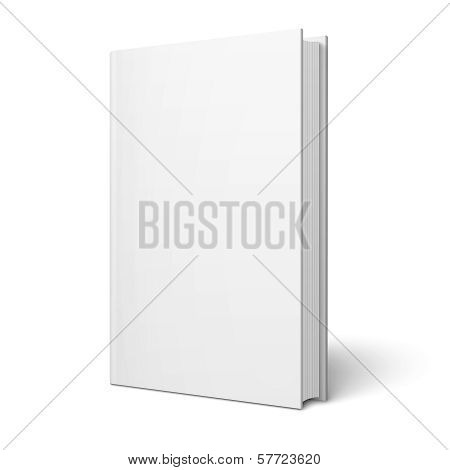 Blank vertical book template.