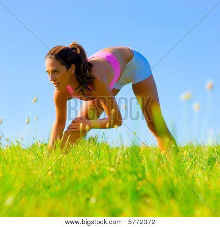 Mujer atlética ejercicio