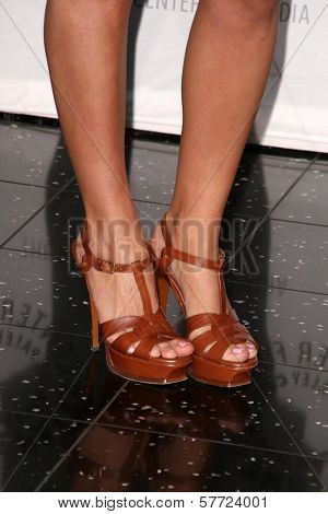 Eliza Dushku's shoes at 'Dollhouse' presented by the Twenty-Sixth Annual William S. Paley Television Festival. Arclight Cinerama Dome, Hollywood, CA. 04-15-09
