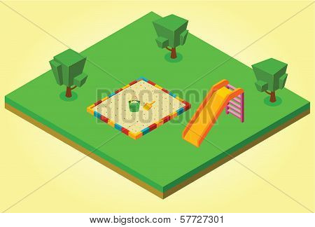 Isometric Sandbox And Slides