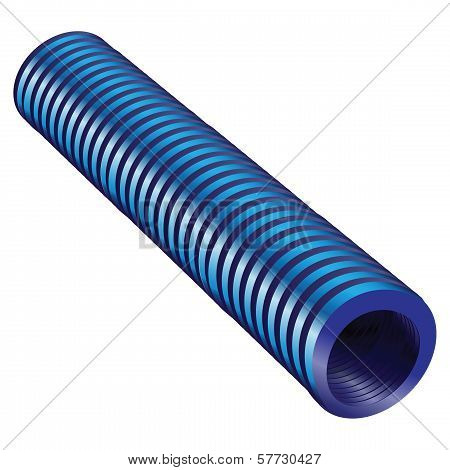 Blue Corrugated Tube