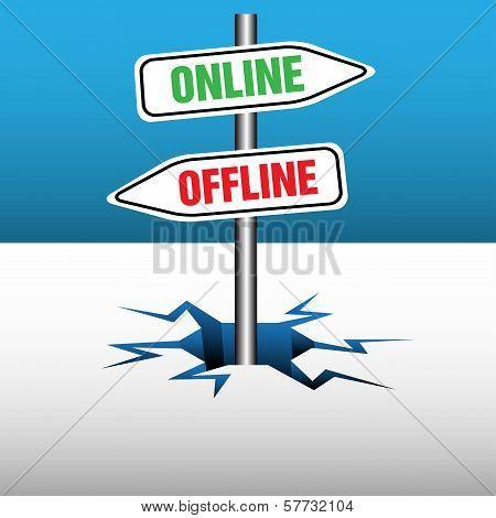 Online and offline signpost