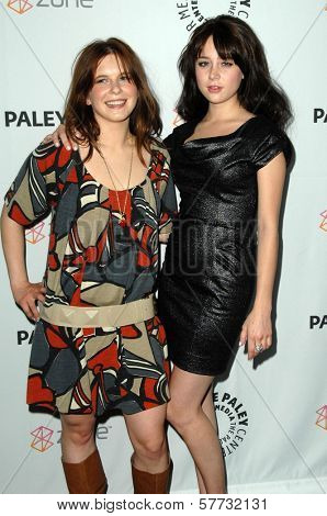 Magda Apanowicz and Alessandra Torressani  at 'Battlestar Galactica-Caprica' presented by the Twenty-Sixth Annual William S. Paley Television Festival. Arclight Cinerama Dome, Hollywood, CA. 04-20-09