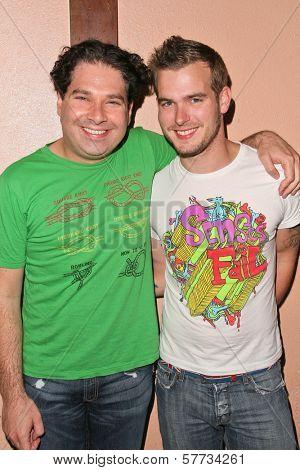 Joel Michaely and Lance Gilliam at Jennifer Blanc's Birthday Party. Amagi Night Club, Hollywood, CA. 04-21-09