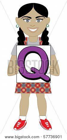 Letter Q Girl
