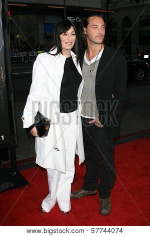 Anjelica Huston and Jack Huston  at the Industry Screening of 'X-Men Origins Wolverine'. Grauman's Chinese Theater, Hollywood, CA. 04-28-09