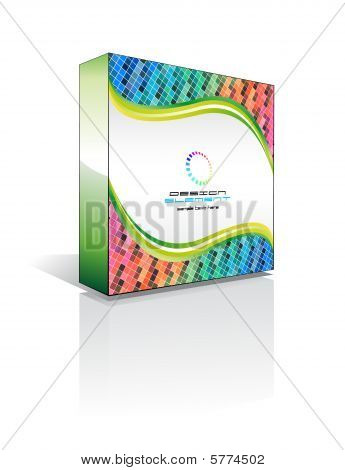3D Business Software Box with high contrast colours