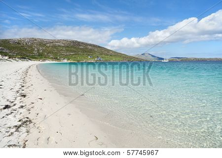 White Sandy Beach Of Vatersay, Outer Hebrides, Scotland