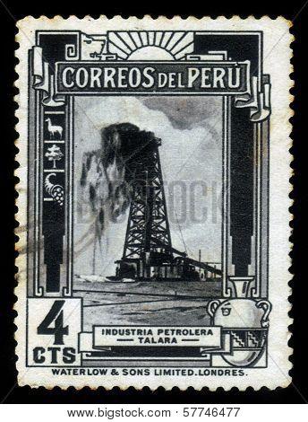 Oil Derrick, Talara In Peru