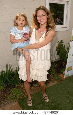 Josie Maran and daughter Rumi at the 2nd Annual Pregnancy Awareness Month Kick off 'Motherhood Begins Now'. Little Dolphins Pre School, Santa Monica, CA. 05-02-09