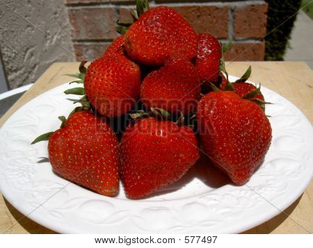Plate Of Strawberries
