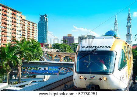 Monorail Train In Kuala Lumpur