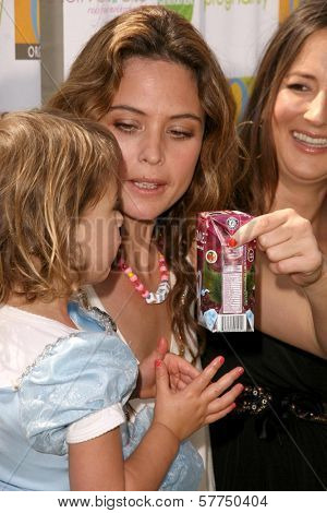 Josie Maran and daughter Rumi with Anna Getty  at the 2nd Annual Pregnancy Awareness Month Kick off 'Motherhood Begins Now'. Little Dolphins Pre School, Santa Monica, CA. 05-02-09