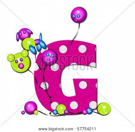 Alphabet Party Balloon G
