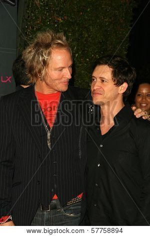 Matt Sorum and Clifton Collins Jr at the T-Mobile Sidekick LX Launch Party. Paramount Studios, Hollywood, CA. 05-14-09